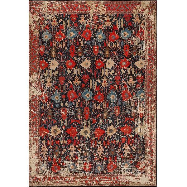 فرش ماشینی فرش ابریشمی کرامتیان طرح آرتینه کد 5957