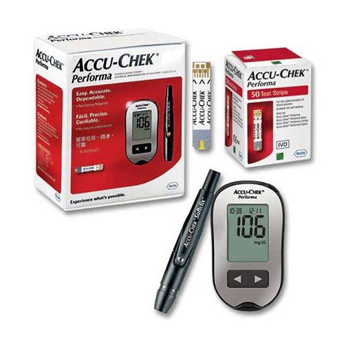 دستگاه تست قند خون آکیو چک مدل پرفورما به همراه قلم و نوار تست قند خون