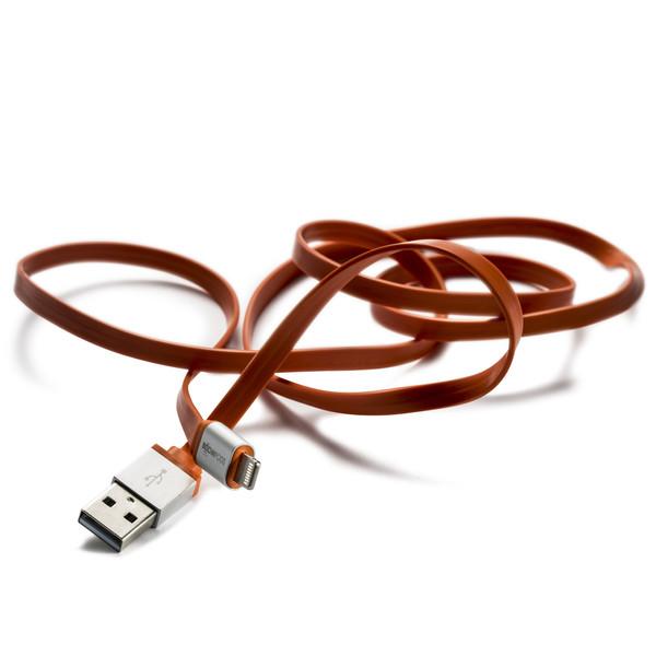 کابل تبدیل USB به لایتنینگ بوم پادز مدل FLATLINE طول 1 متر