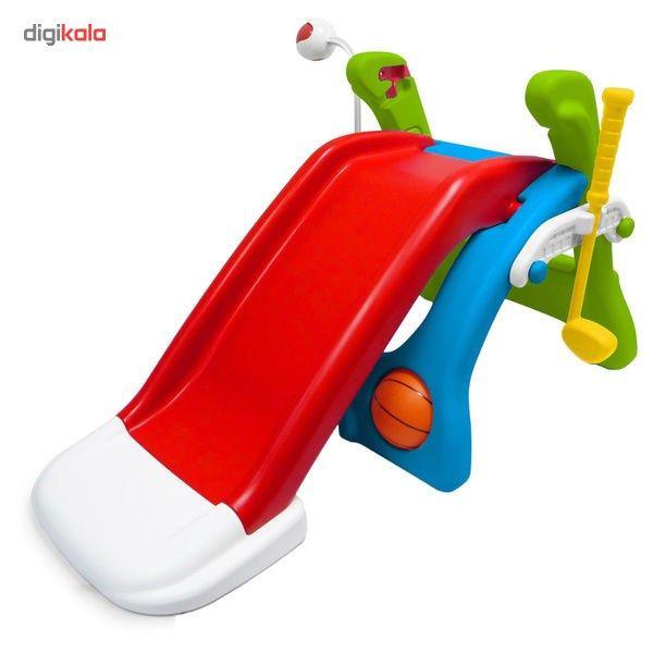 پارک بازی گرون آپ مدل 2031  Grown Up Quick Flip 6 in 1 Sport Activity Center Playset Swings and Sl