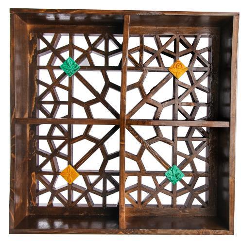 قفسه دیواری گالری پارسا آرا طرح گره چینی کد 312001