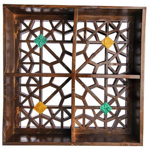 قفسه دیواری گالری پارسا آرا طرح گره چینی کد 312002