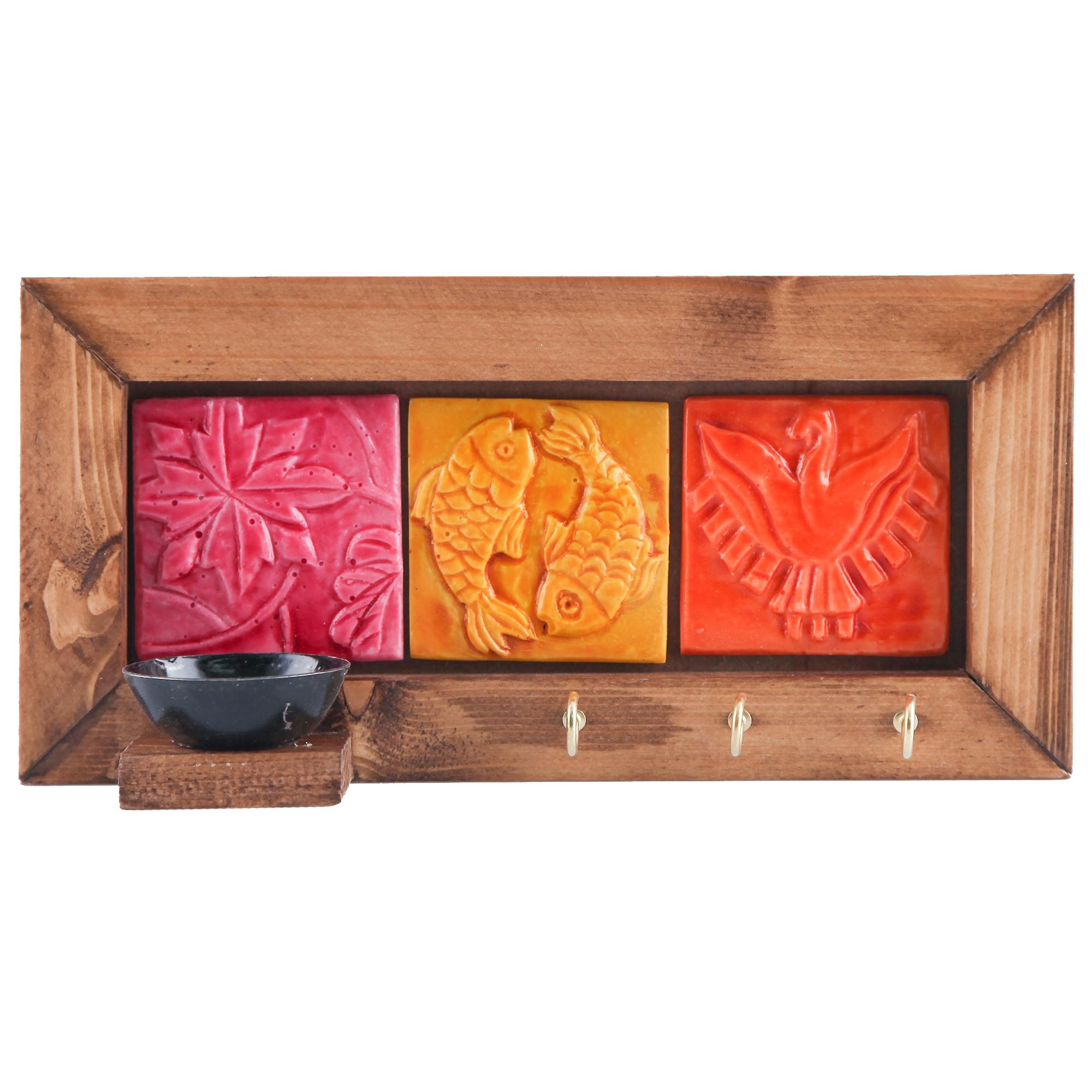خرید                      جاکلیدی گالری پارسا آرا طرح سه خشت رنگی کد 312004