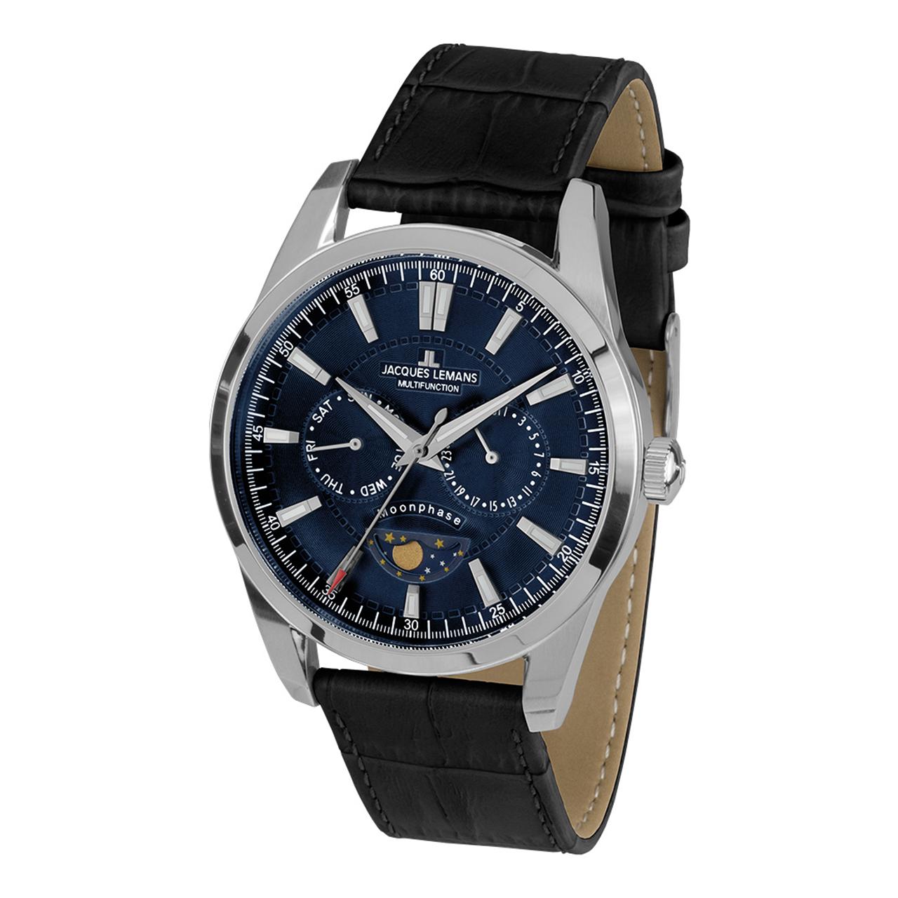 ساعت مچی عقربه ای ژاک لمن مدل 1-1901B