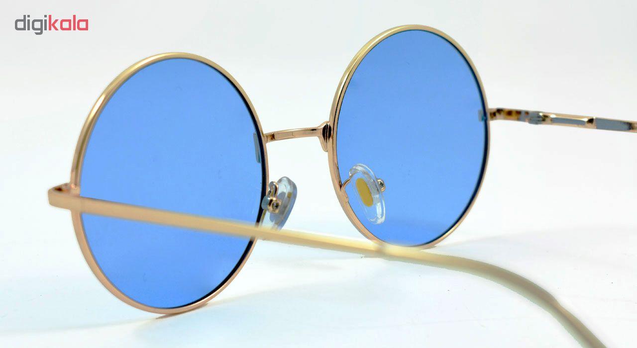 عینک آفتابی مدل Round Metal Blue
