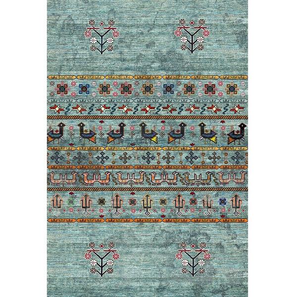 فرش ماشینی فرش ابریشمی کرامتیان طرح آرتینه کد 5992