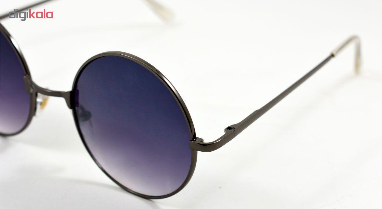 عینک آفتابی مدل Round Metal Dark Grey