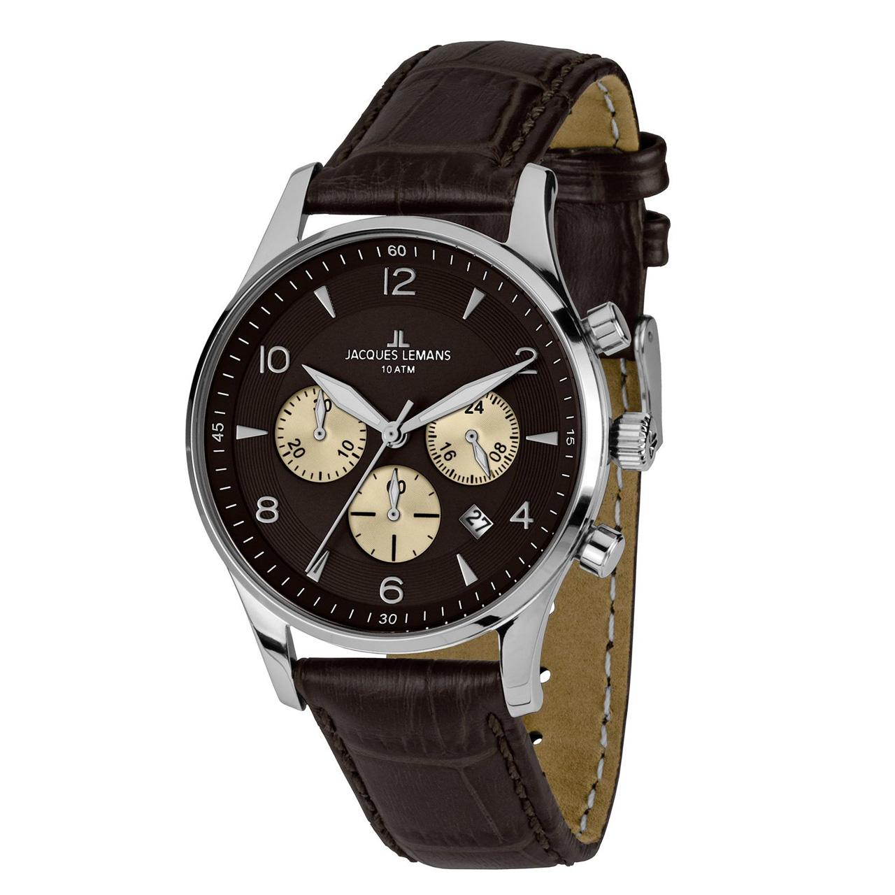 ساعت مچی عقربه ای مردانه ژاک لمن مدل 1-1654D