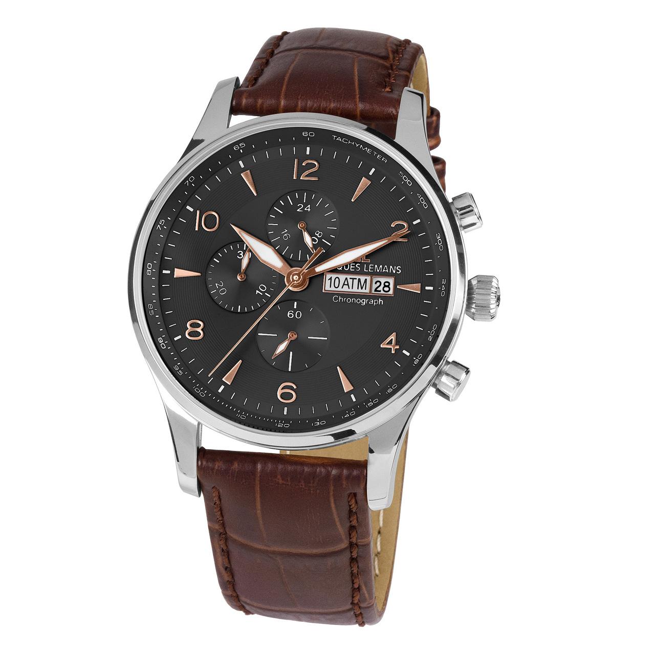 ساعت مچی عقربه ای مردانه ژاک لمن مدل 1-1844D