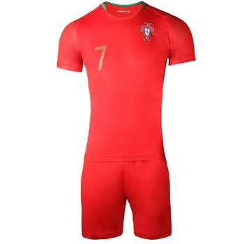 پیراهن و شورت ورزشی مردانه پانیل طرح تیم پرتغال کد 3035  