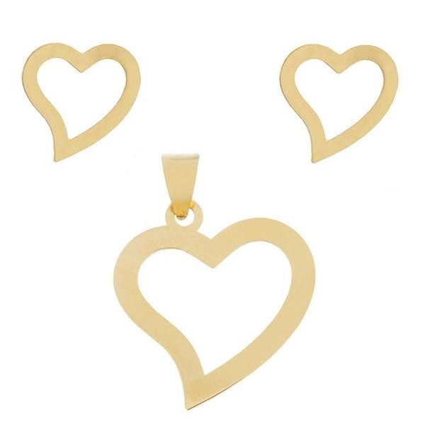 نیم ست نقره طرح قلب کد 01