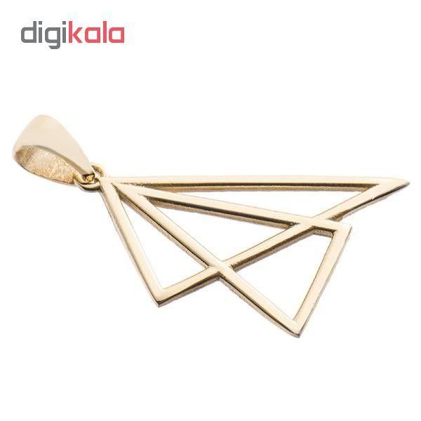 آویز گردنبند نقره طرح مثلث کد 02