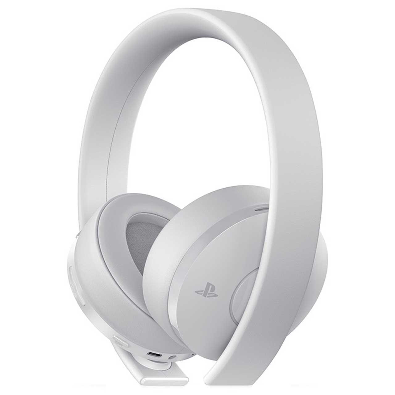 عکس هدست سونی مدل headset new gold white