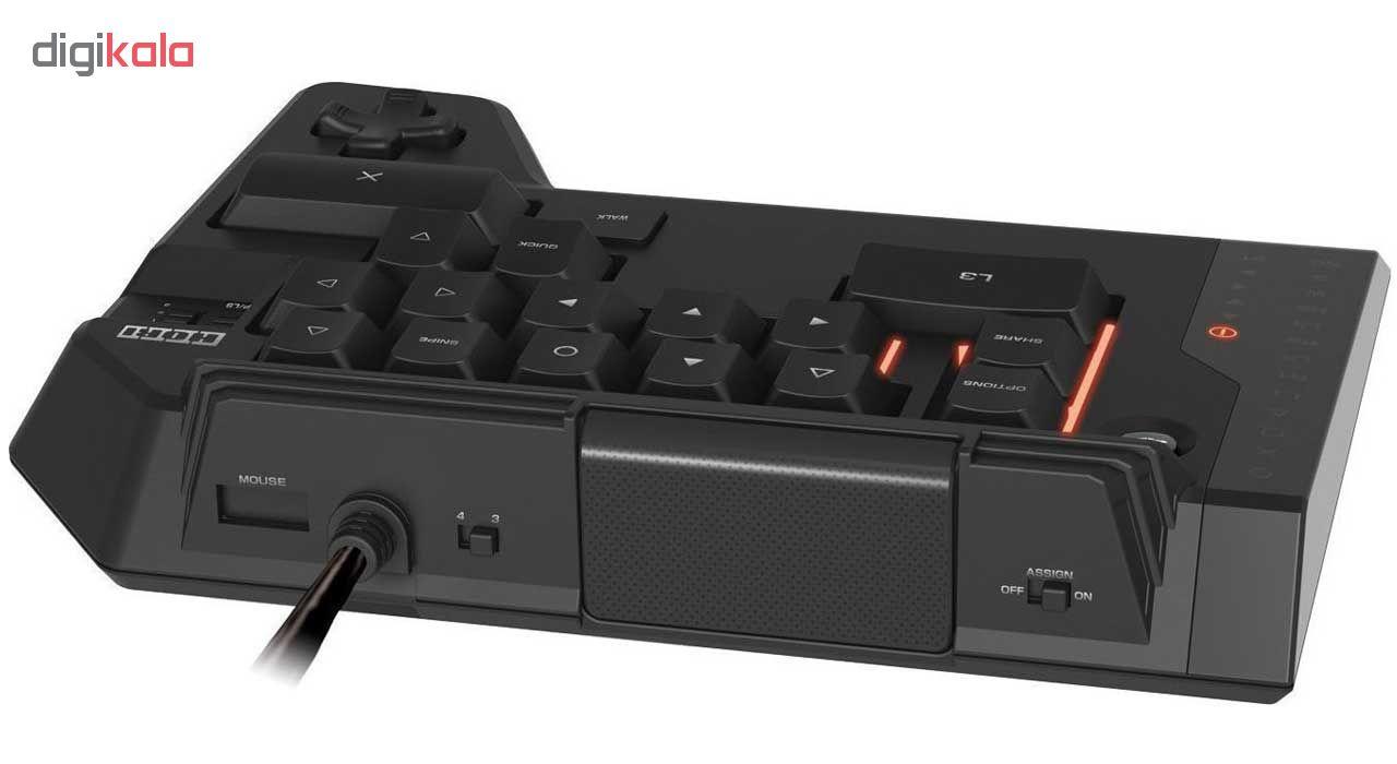 موس و کیبورد هوری مدل Tactical Assault Commander Four مناسب برای پلی استیشن 4