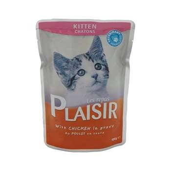 غذای پوچ بچه گربه پلازیر مدل Chicken وزن 100 گرم