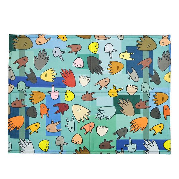 فرش پارچه ای گوشه سایز 50 × 70 سانتی متر کد 06