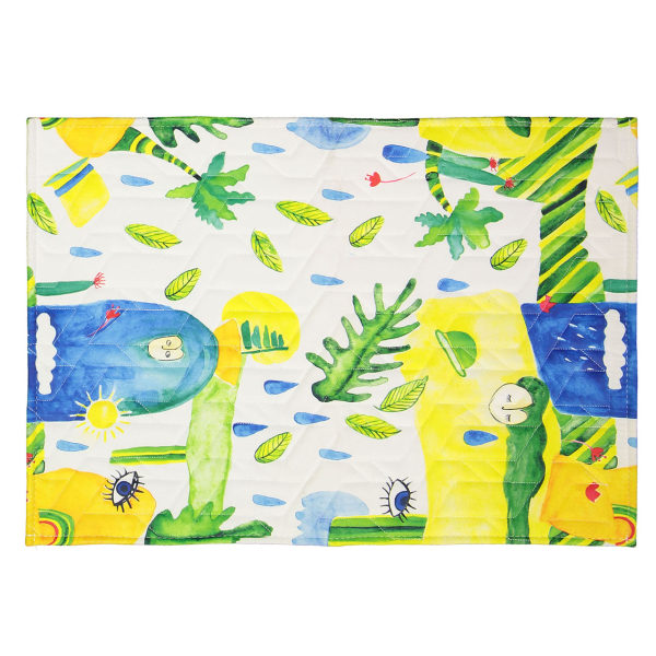 فرش پارچه ای گوشه سایز 50 × 70 سانتی متر کد 12
