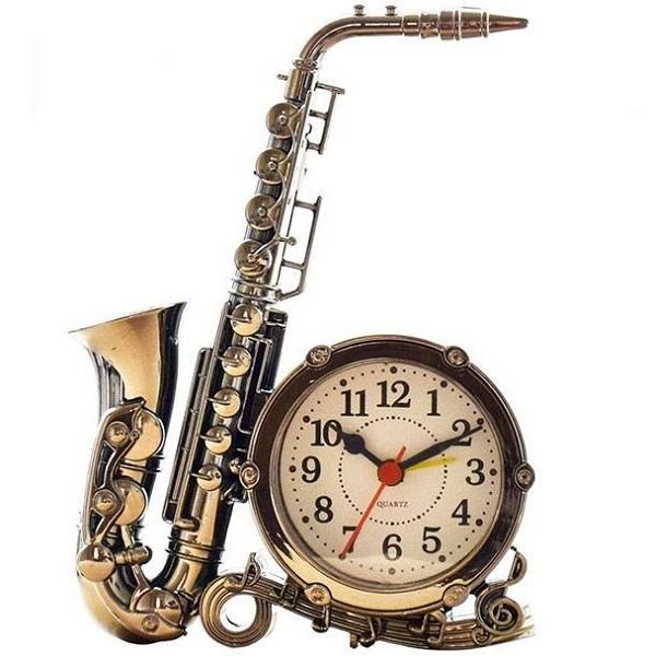 خرید ساعت رومیزی طرح Saxophone مدل 2019