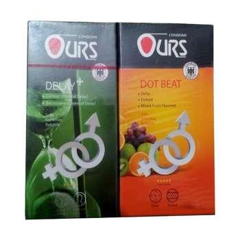 کاندوم اورز مدل +DELAY بسته 12 عددی به همراه کاندوم اورز مدل DOT BEAT بسته 12 عددی