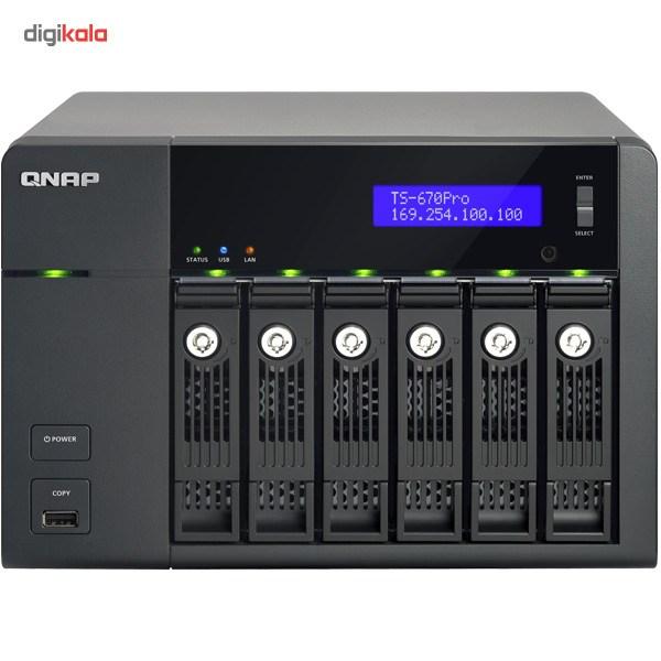 ذخیره ساز تحت شبکه کیونپ مدل TS-670-Pro بدون هارددیسک