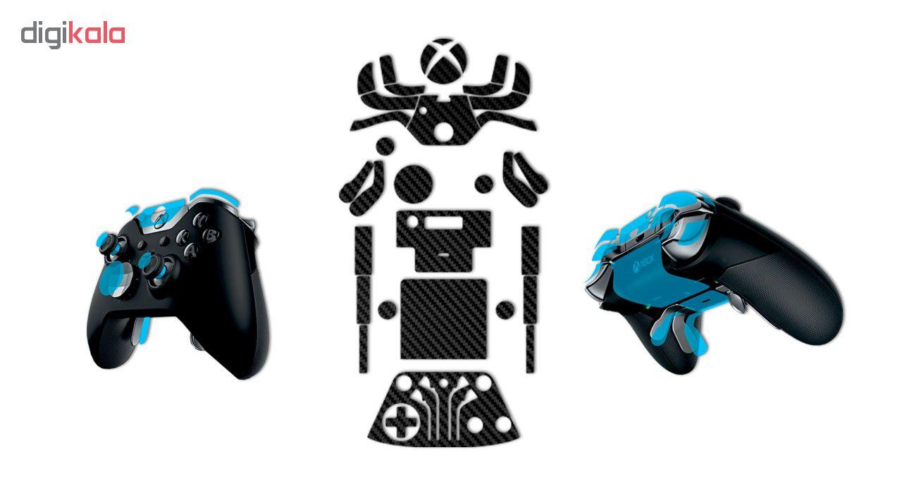 برچسب ماهوت مدل  Black Carbon-fiber Texture  مناسب برای دسته کنترل بازی مایکروسافت Elite Xbox One controller