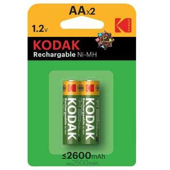باتری قلمی قابل شارژ کداک مدل  Rechargeable 2600 mAh بسته 2 عددی