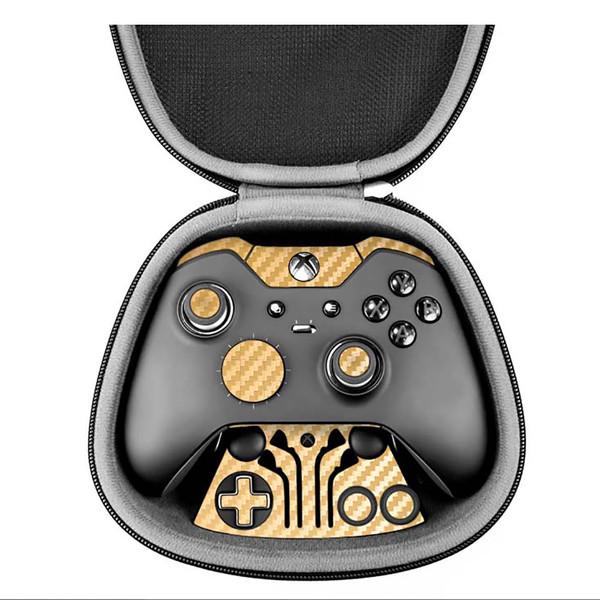 برچسب ماهوت مدل Gold Carbon-fiber Texture مناسب برای دسته کنترل بازی مایکروسافت Elite Xbox One controller