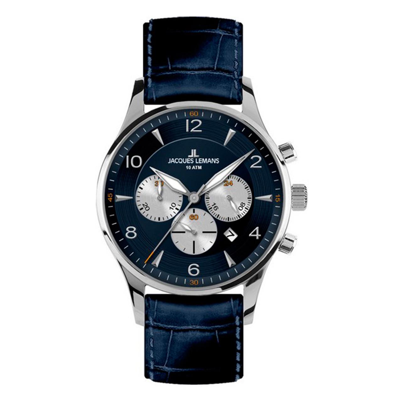 ساعت مچی عقربه ای مردانه ژاک لمن مدل 1-1654C