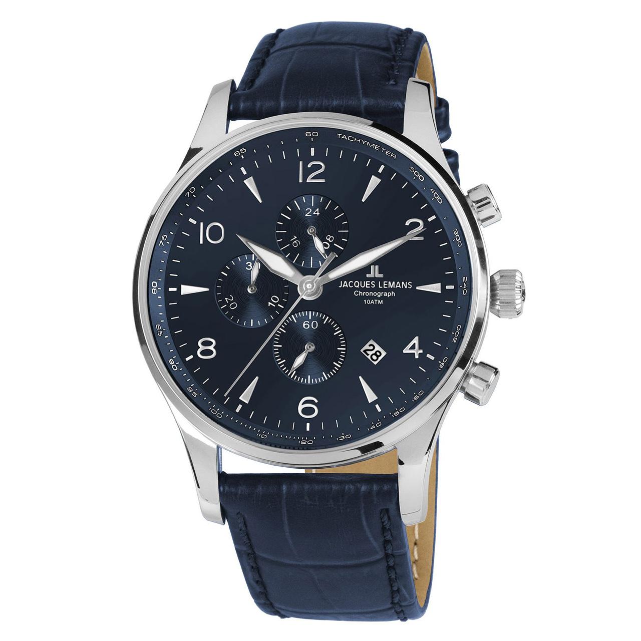 ساعت مچی عقربه ای مردانه ژاک لمن مدل 1-1844ZC