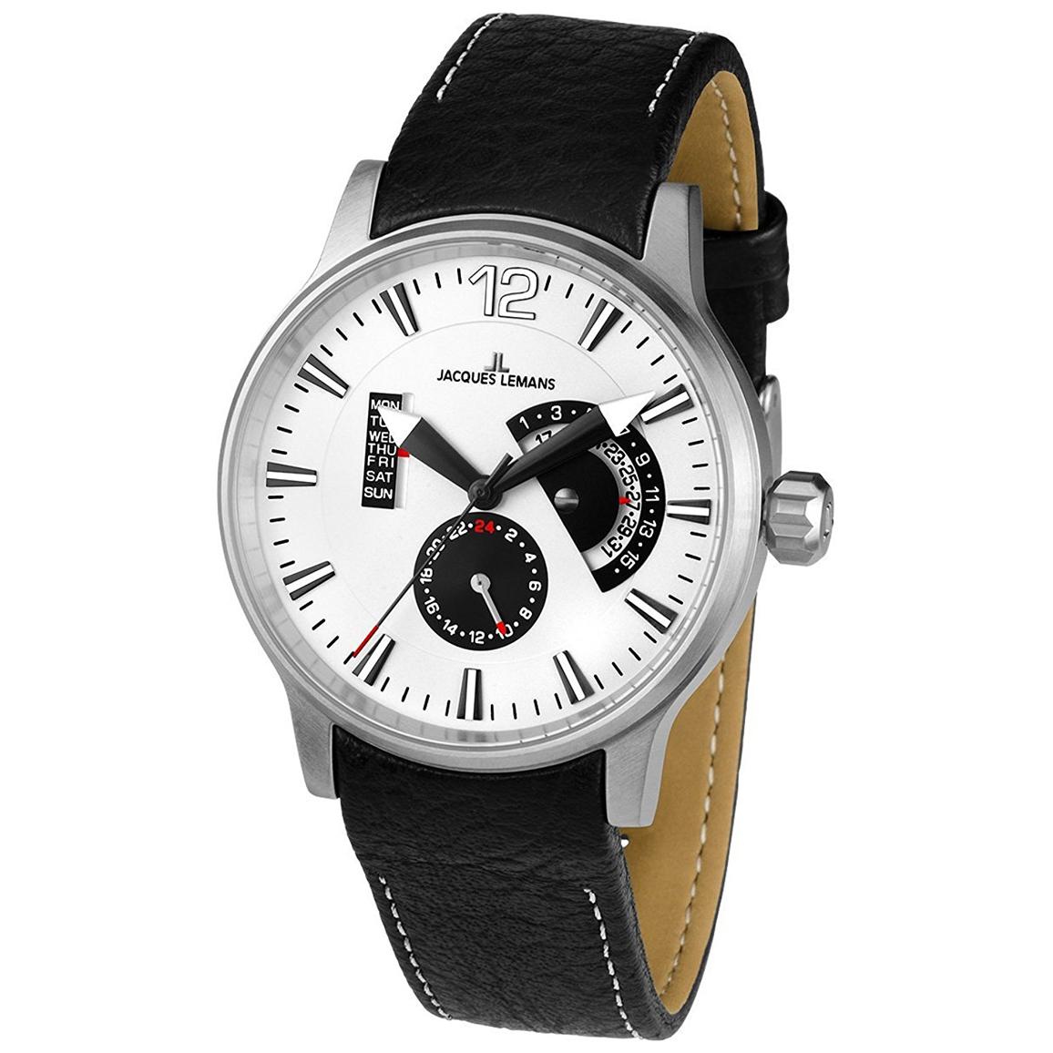 ساعت مچی عقربه ای مردانه ژاک لمن مدل 1-1741H