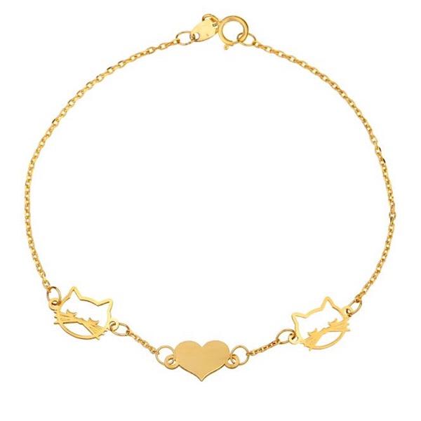 دستبند طلا 18 عیار مدل Zx