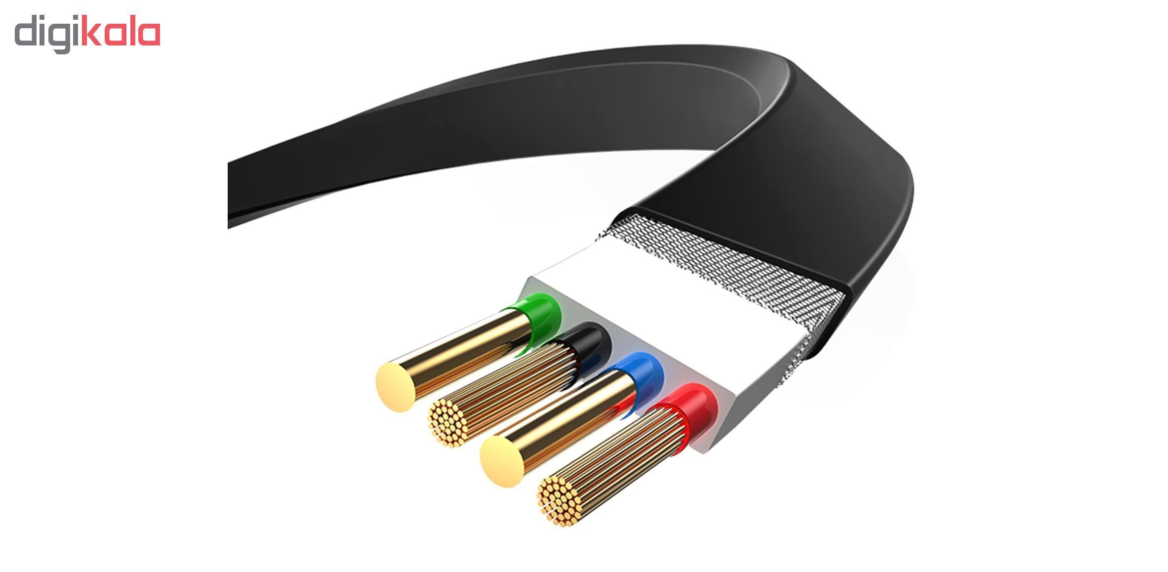 کابل تبدیل USB به لایتنینگ/ micro USB /USB-C یوسمز مدل US-SJ263 طول 1 متر main 1 1
