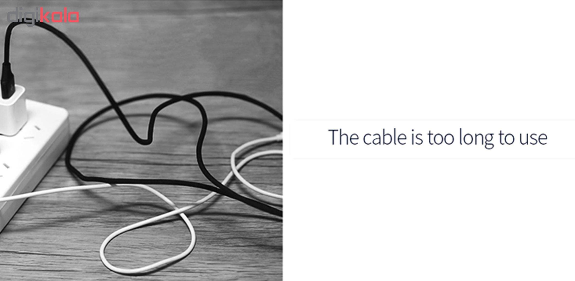 کابل تبدیل USB به لایتنینگ/ micro USB /USB-C یوسمز مدل US-SJ263 طول 1 متر main 1 13