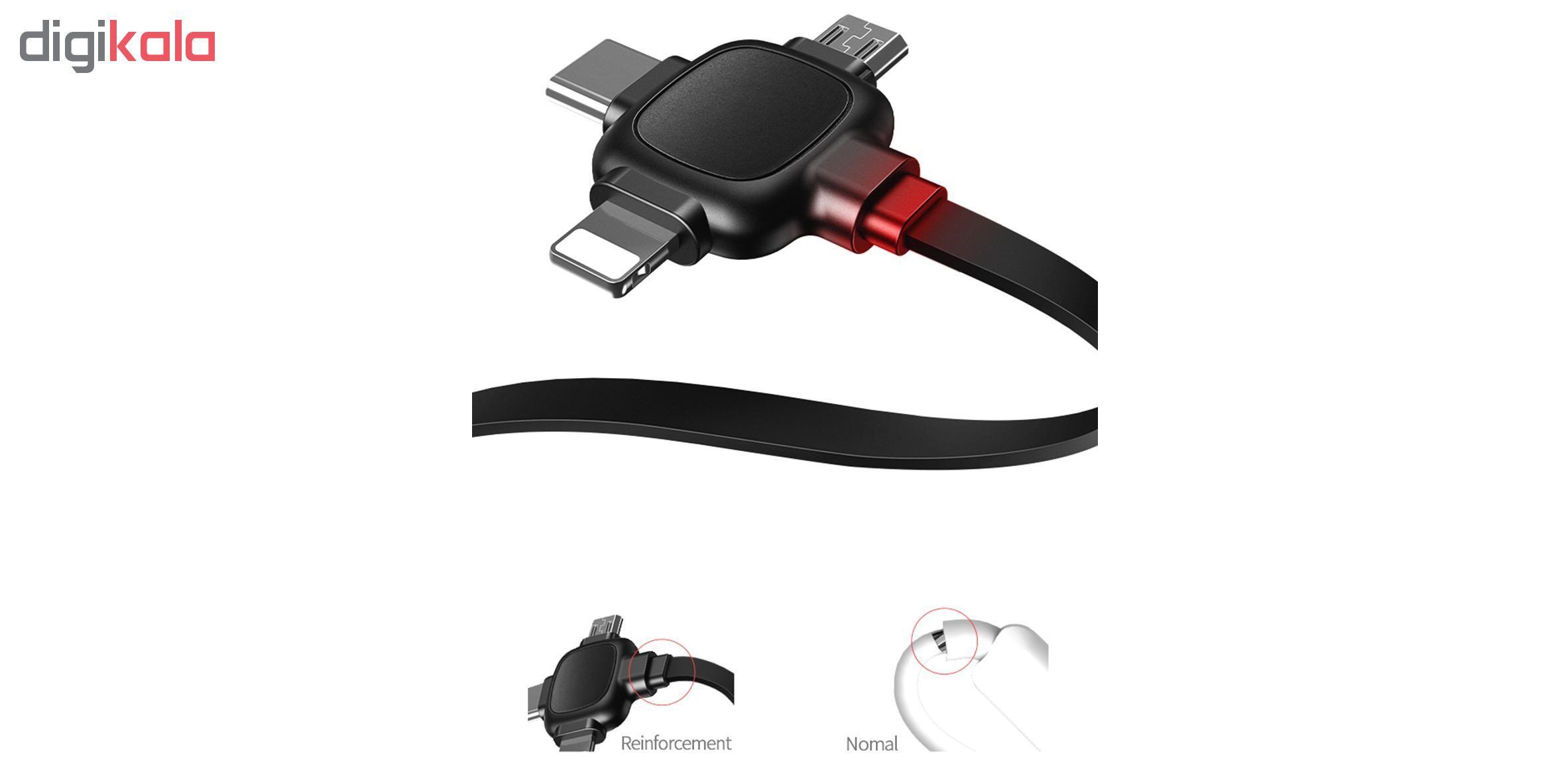 کابل تبدیل USB به لایتنینگ/ micro USB /USB-C یوسمز مدل US-SJ263 طول 1 متر main 1 14