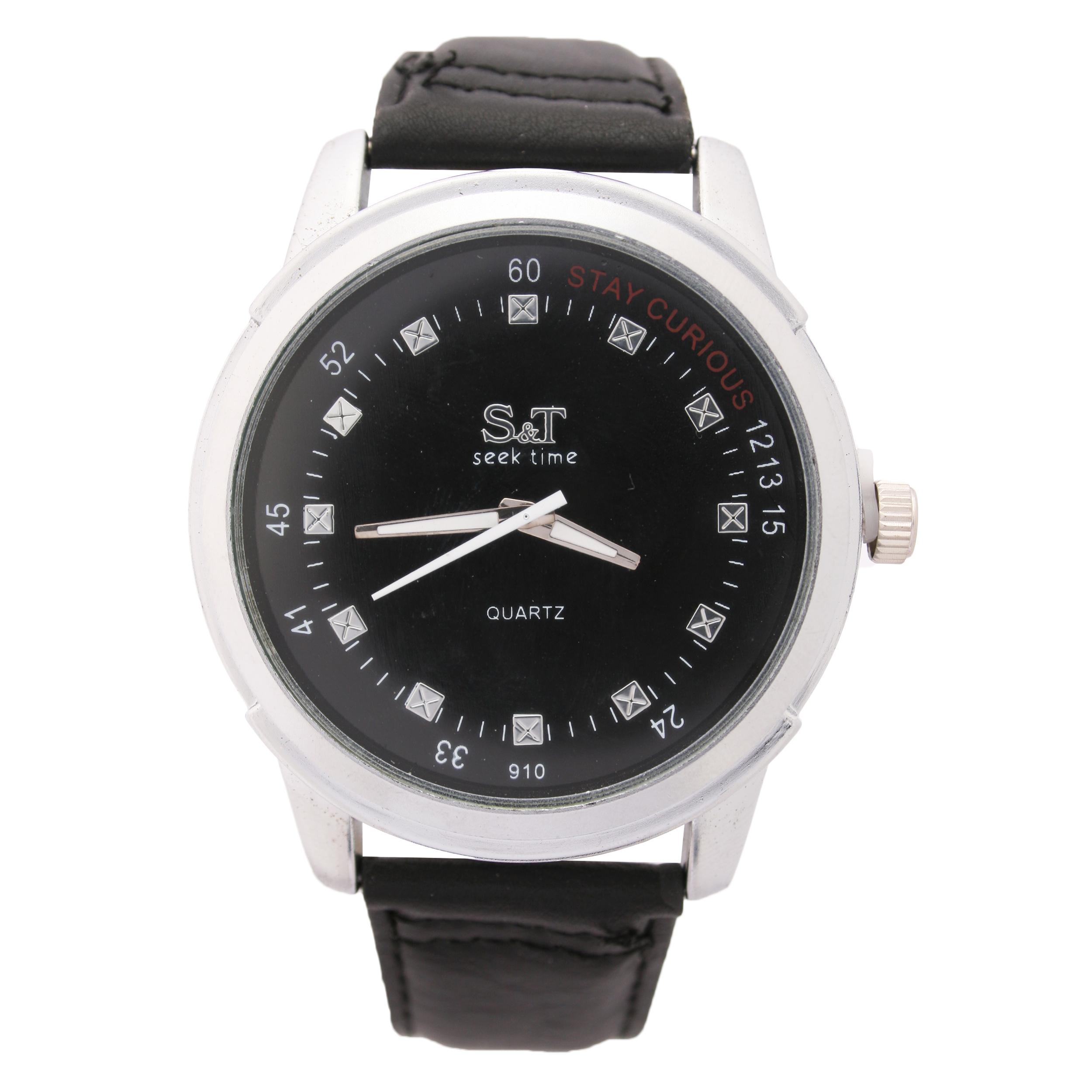 ساعت مچی عقربه ای اس اند تی مردانه مدل ۱۰۶