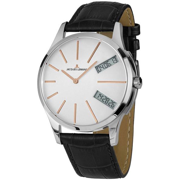 ساعت مچی عقربه ای مردانه ژاک لمن مدل 1-1813I