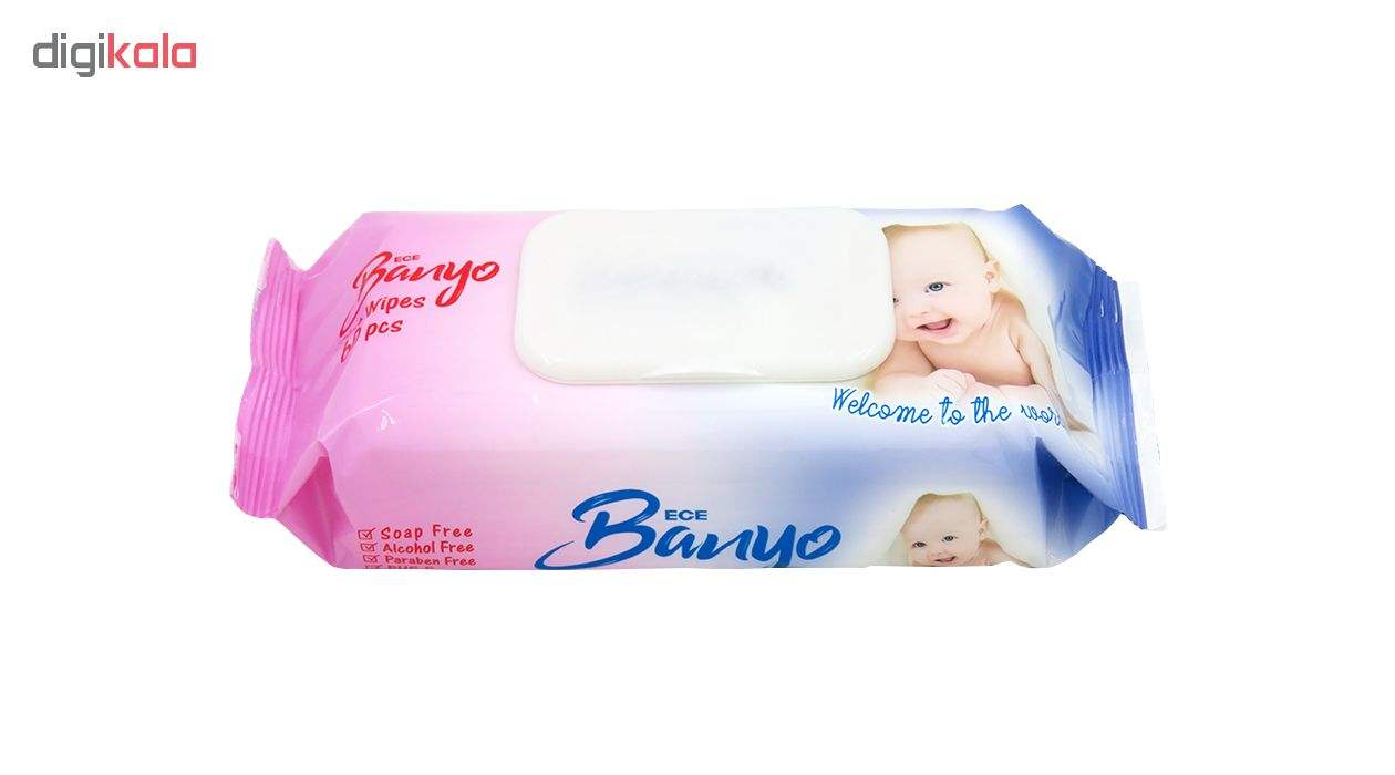 دستمال مرطوب کودک بانیو مدل Sensitive بسته 60 عددی main 1 2