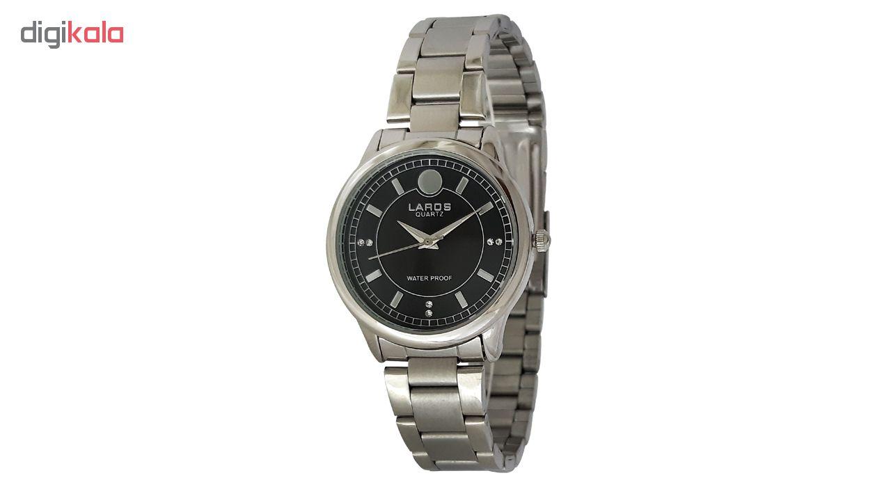 ساعت زنانه برند لاروس مدل 0916-79914 به همراه دستمال مخصوص برند کلین واچ