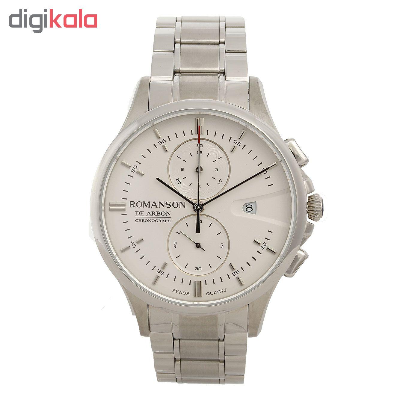 کد تخفیف                                      ساعت مچی عقربه ای مردانه رومانسون مدل CA5A09HMWWA1R5
