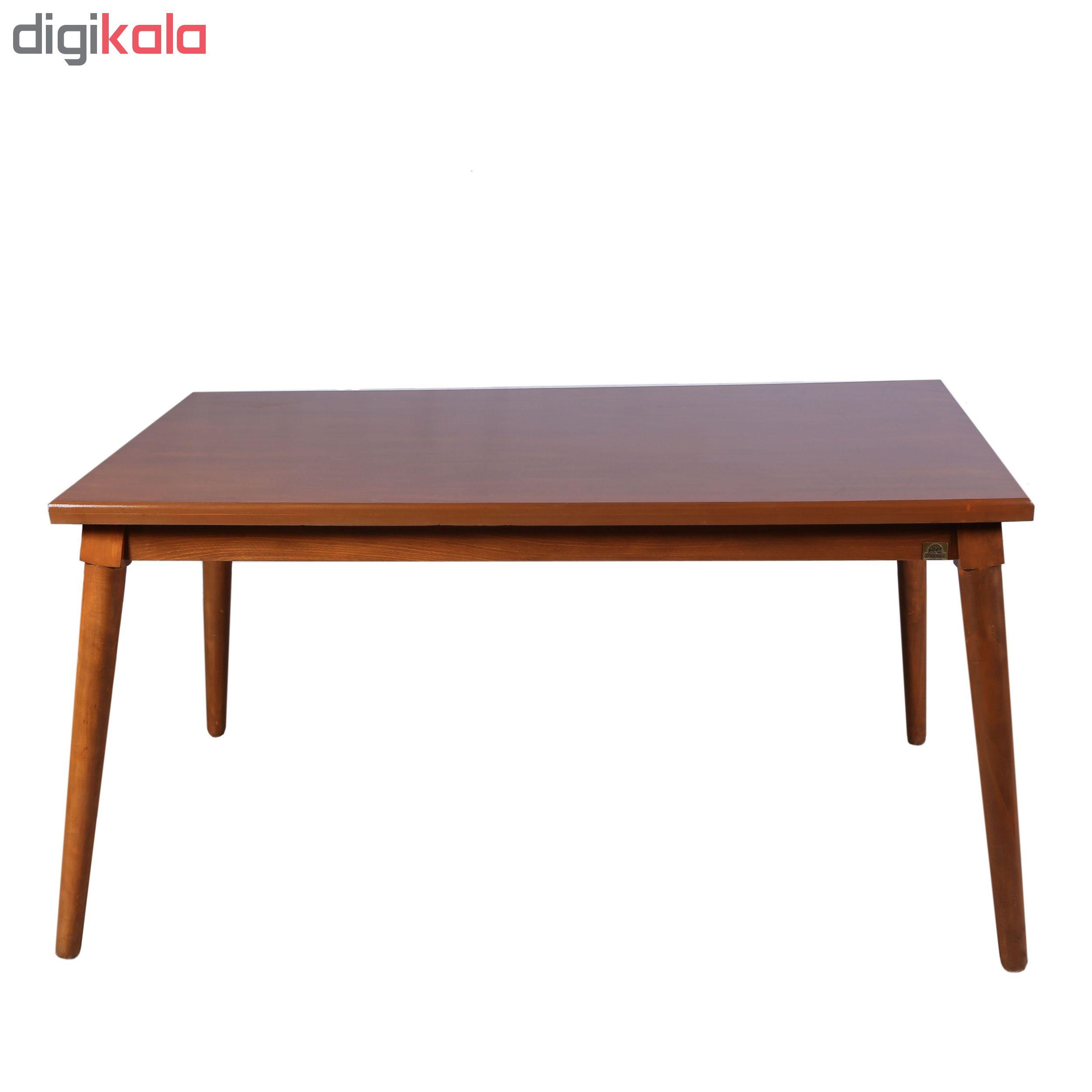 قیمت                      میز ناهارخوری چوبکو مدل لوتوس