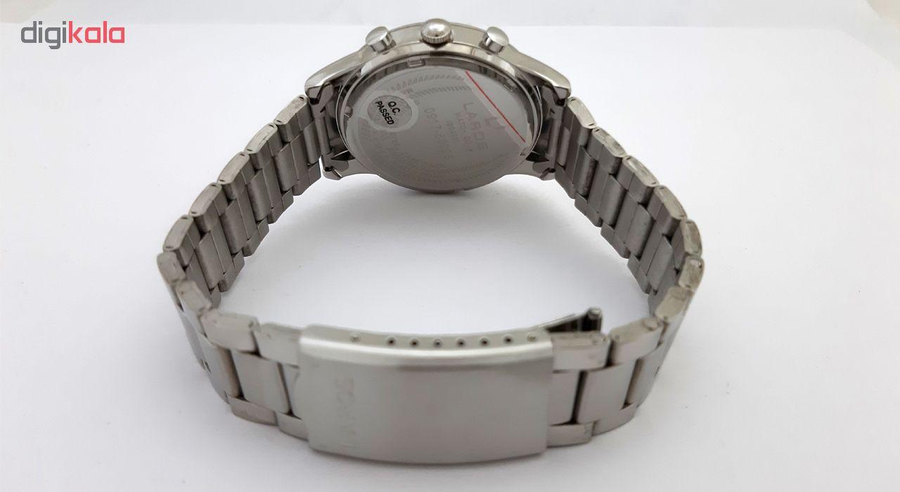 ساعت مچی  مردانه لاروس مدل0917-80095 به همراه دستمال مخصوص برند کلین واچ              اصل