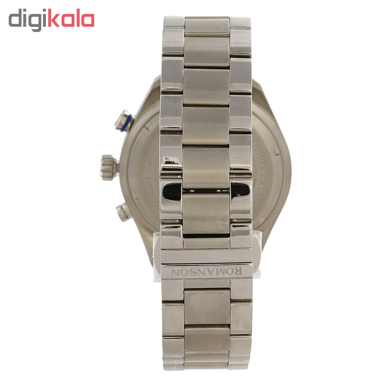 کد تخفیف                                      ساعت مچی عقربه ای مردانه رومانسون مدل AM6A06HMWWA1R5