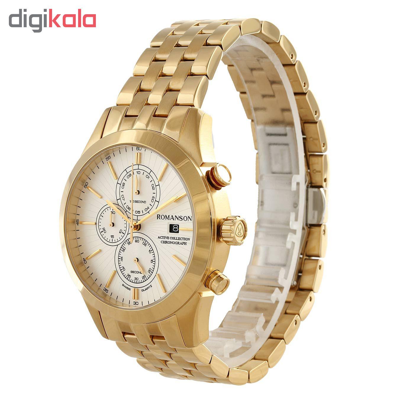 کد تخفیف                                      ساعت مچی عقربه ای مردانه رومانسون مدل AM6A07HMGGA1R5