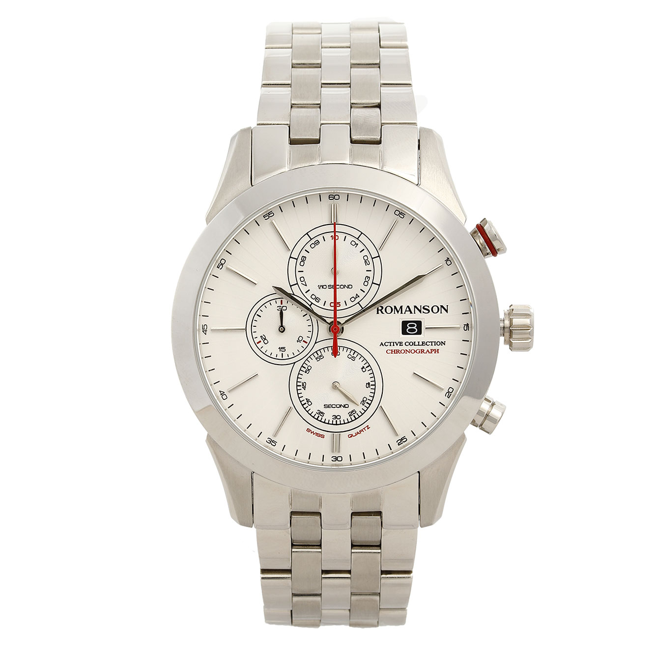 کد تخفیف                                      ساعت مچی عقربه ای مردانه رومانسون مدل AM6A07HMWWA1R5