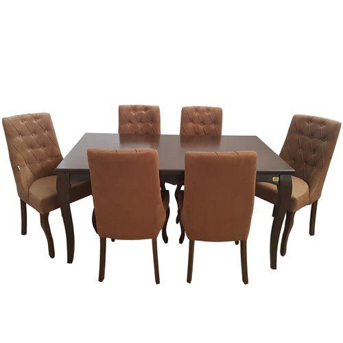 میز و صندلی ناهار خوری چوبکو مدل رویال