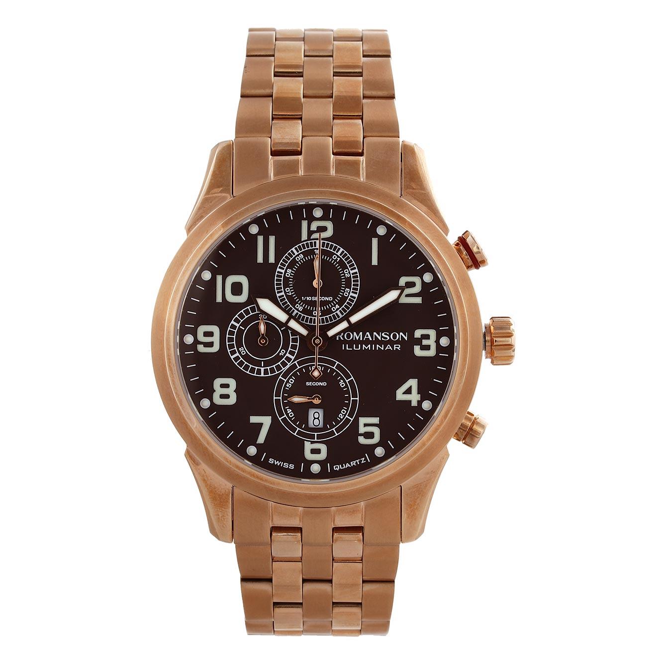 کد تخفیف                                      ساعت مچی عقربه ای مردانه رومانسون مدل AM6A14HMRRABR5