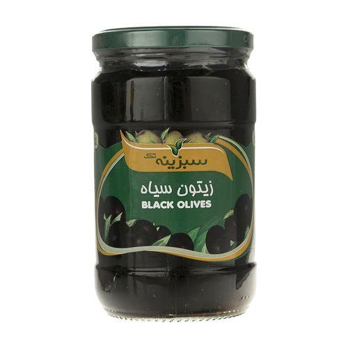 زیتون سیاه سبزینه تک مقدار 700 گرم