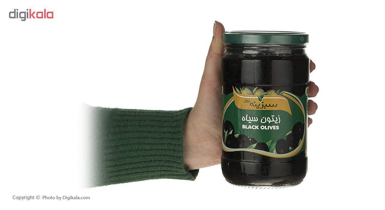 زیتون سیاه سبزینه تک مقدار 700 گرم main 1 3