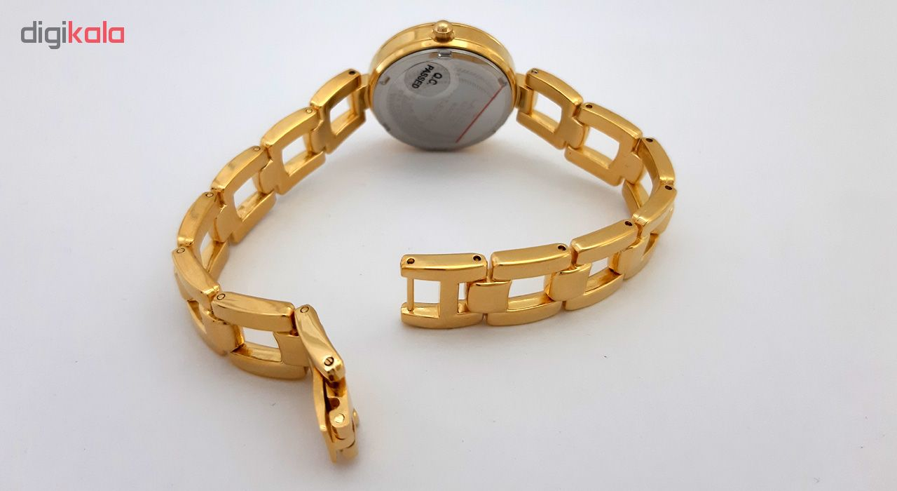 ساعت مچی عقربه ای زنانه لاروس مدل 1117-80138 به همراه دستمال مخصوص برند کلین واچ