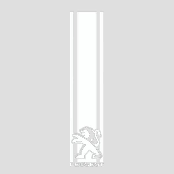استیکر خودرو طرح پژو کد S182 سایز 55x12 سانتیمتر